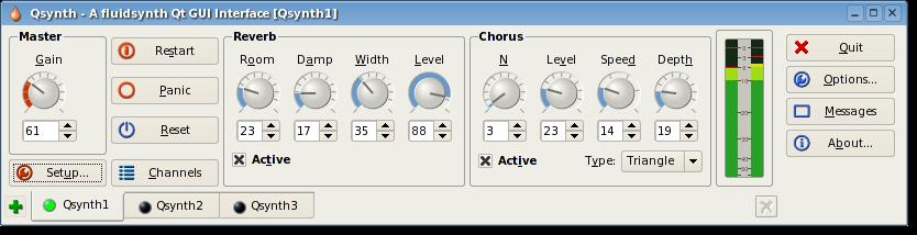 Qsynth - Qt GUI Interface for FluidSynth - Screenshots